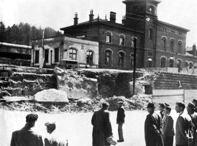 Der Vorgänger des heutigen Bahnhofs von Esch/Alzette.