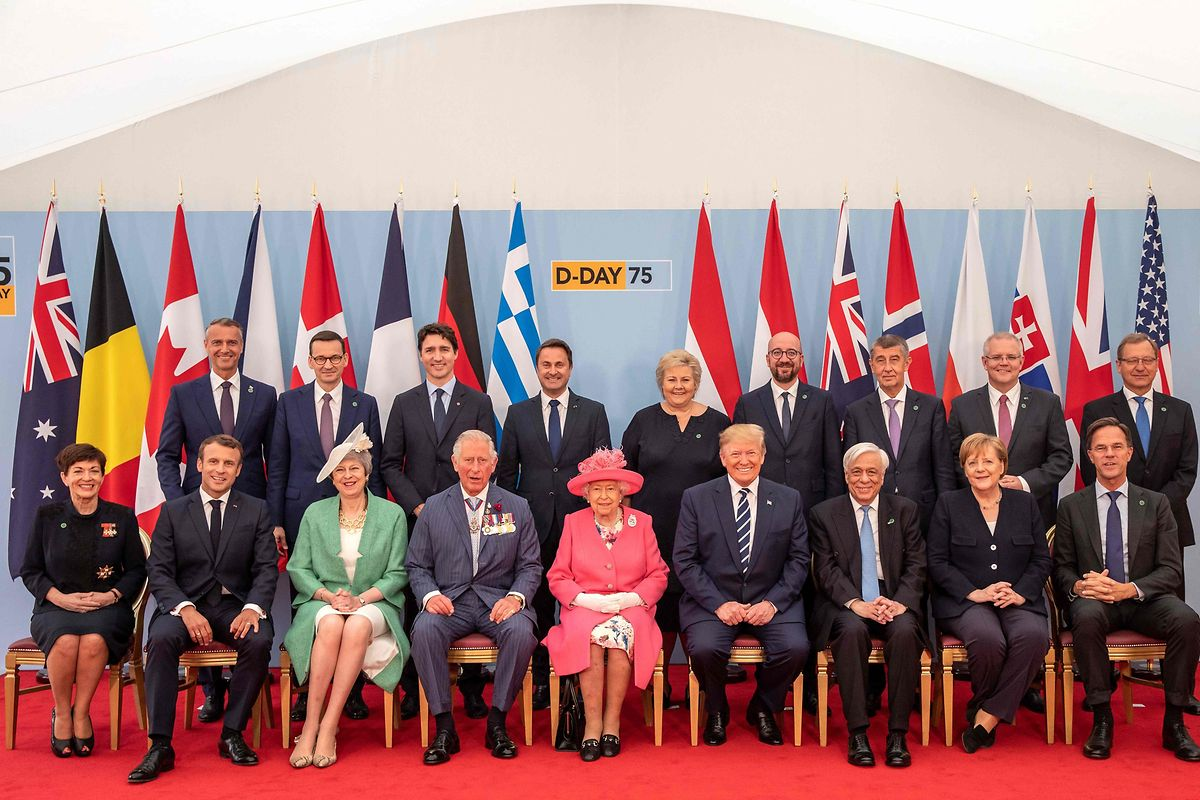 Vários líderes mundiais estiveram presentes na cerimónia, como o primeiro-ministro luxemburguês Xavier Bettel, o primeiro-ministro canadiano Justin Trudeau, o Presidente francês Emmanuel Macron, o Presidente dos EUA Donald Trump, entre outros
