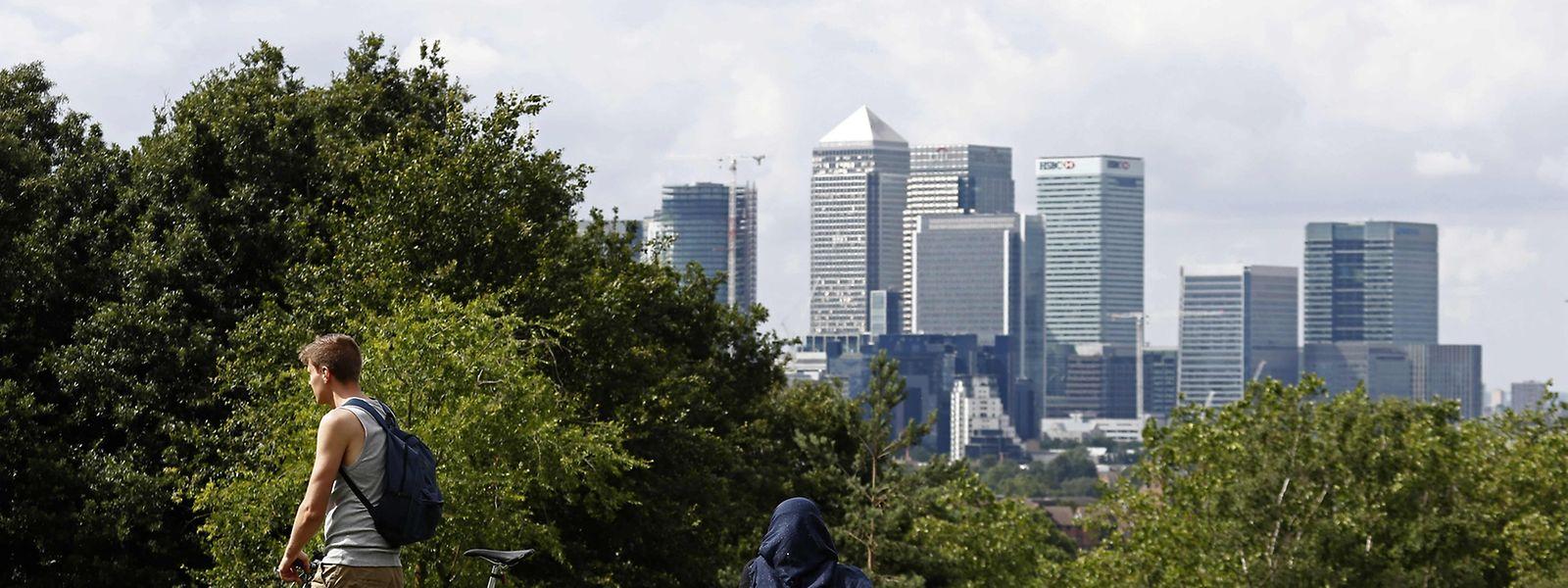 """Das Londoner Finanzviertel """"Canary Wharf"""", wo die Bankenaufsicht momentan beheimatet ist."""
