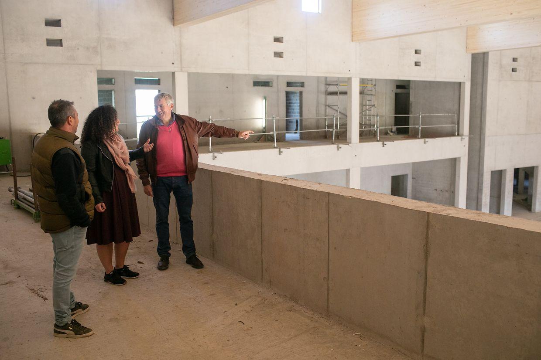 Erste Einblicke in die neue Eventhalle in Oberkorn