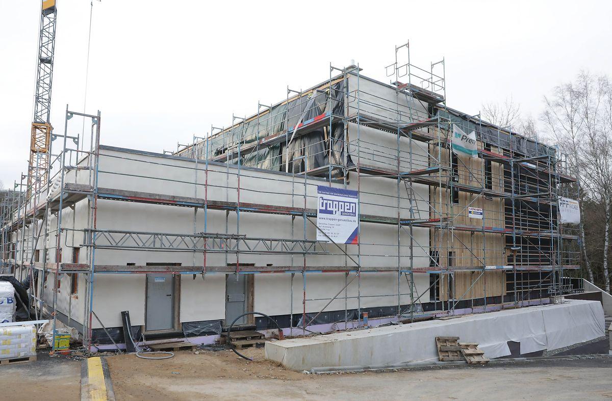 In Findel entsteht ein neues Gebäude für die Winteraktion mit 200 Betten, das nächste Saison bereits genutzt werden soll.