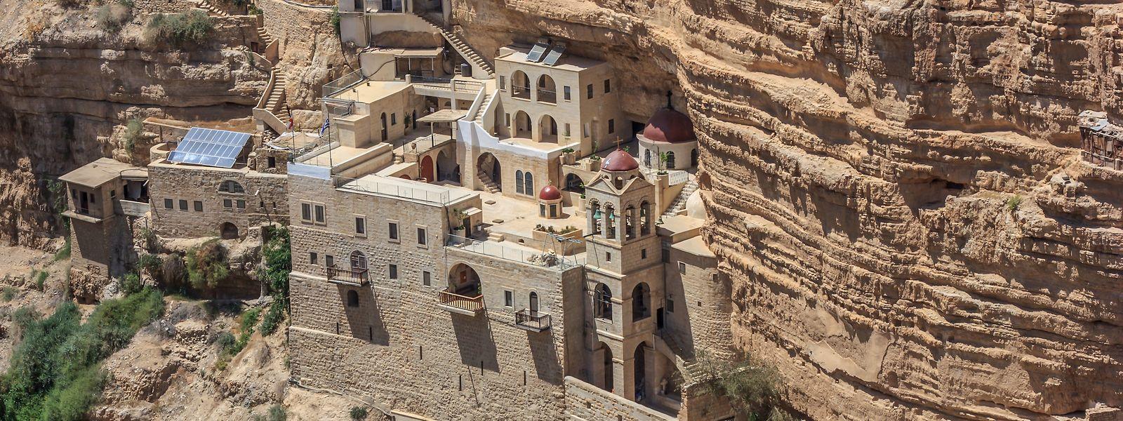 Blick auf das Kloster St. Georg, etwa fünf Kilometer westlich von Jericho.