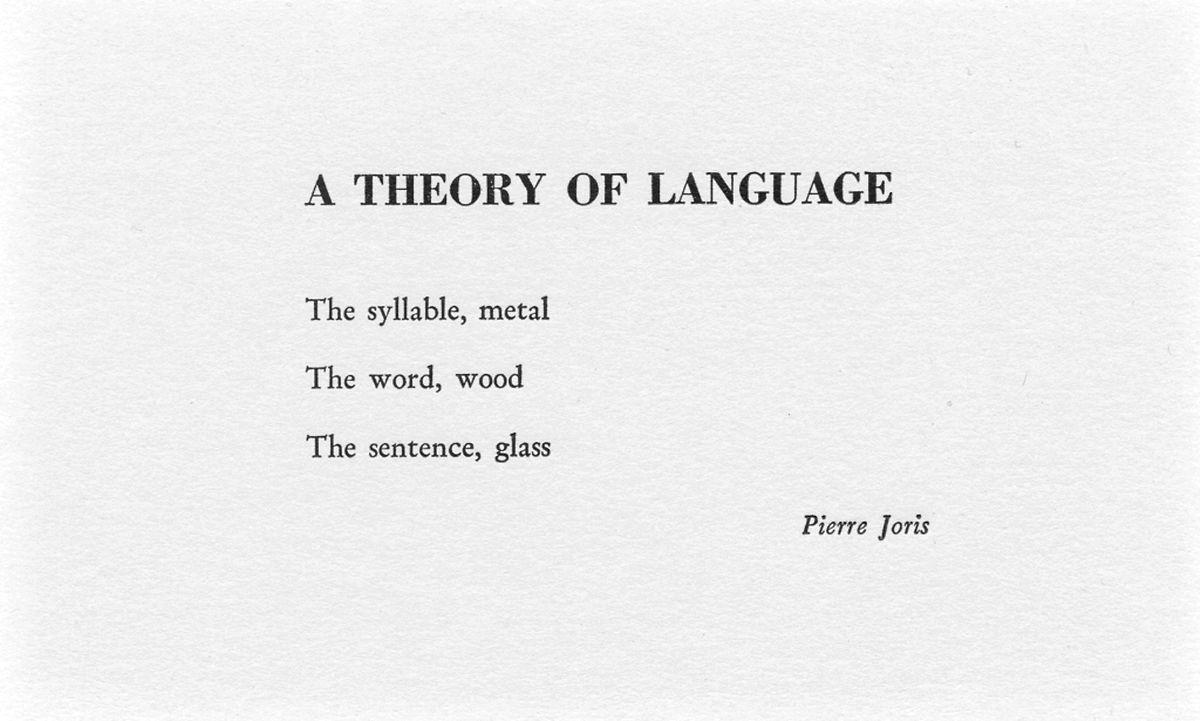 Ein Gedicht von Joris
