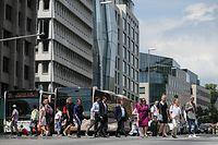 Finanzplatz Luxemburg. Boulevard Royal. Photo: Guy Wolff