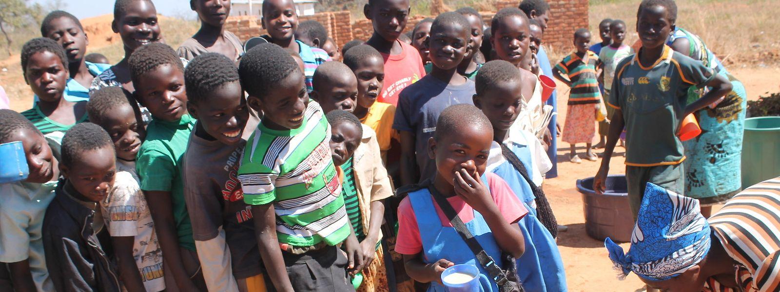 In Malawi erhalten mittlerweile fast 30 Prozent aller Grundschulkinder jeden Tag eine Mahlzeit von Mary's Meals.