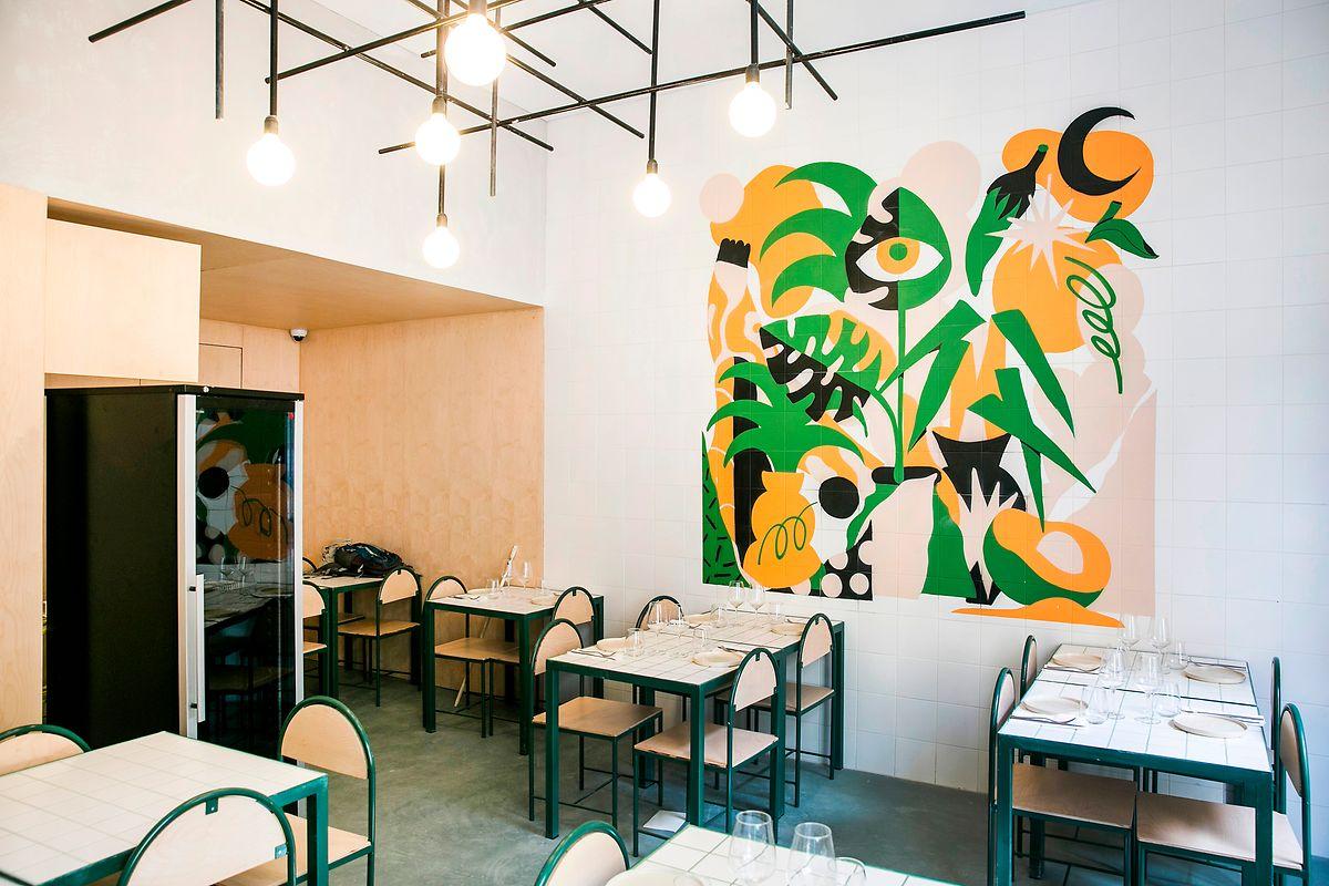 A sala de 'É Um Restaurante', um projeto inédito que abre no dia 1 de outubro.