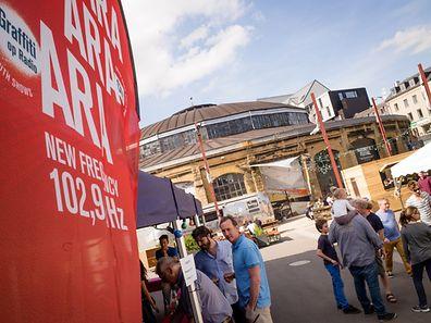 "Radio ARA, Jugendsendungen Graffiti an ARA City Team aweiung studio et Festival ""Ear we are!"" - Radio Ara festival 21.05.2016 Photo Christophe Olinger"
