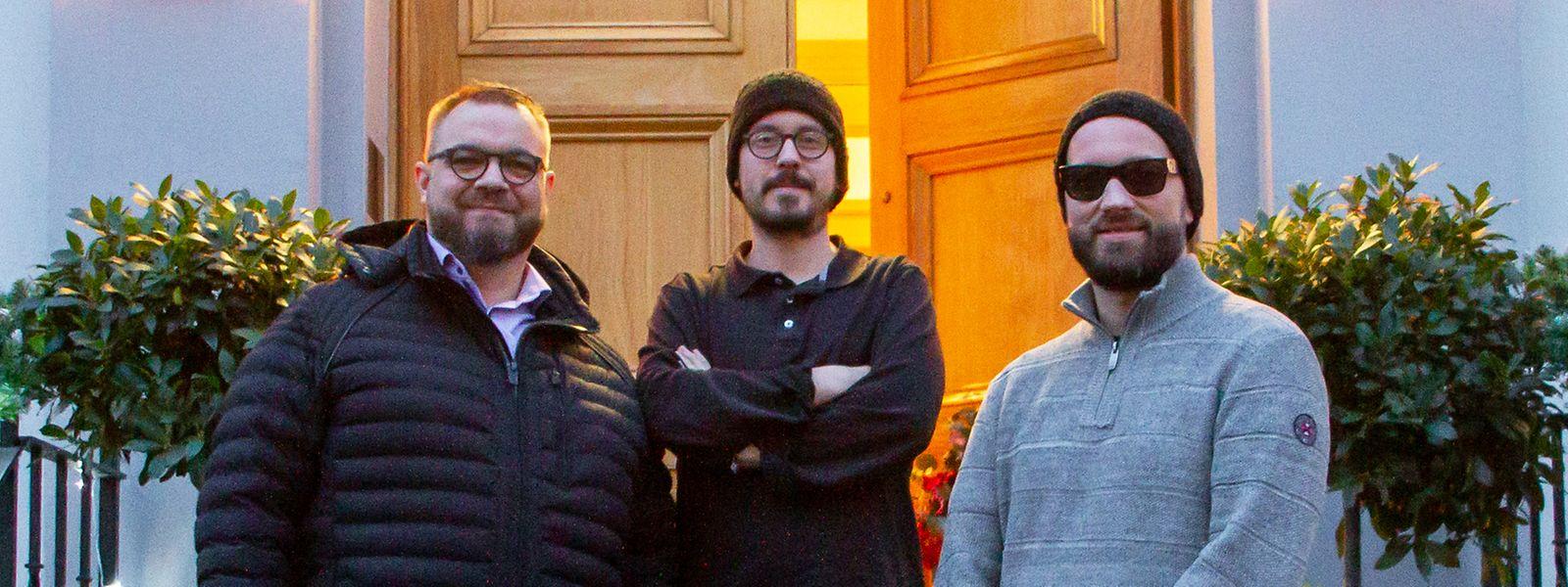 Der Luxemburger Patrick Mordiconi hat seine Aufträge in den Abbey Road Studios den beiden gebürtigen Saarländern Dustin Dooley und Matthias J. Stalter (v.l.n.r.) zu verdanken, die in der britischen Hauptstadt arbeiten.