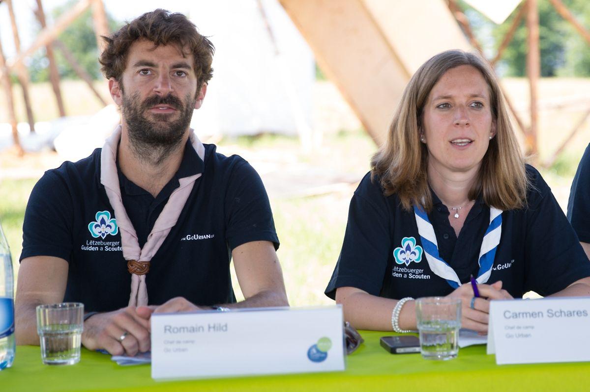 Romain Hild und Carmen Schares, die beigeordneten Campchefs.
