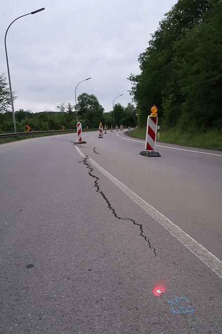 Die Stelle befindet sich zwischen Esch/Alzette und Rümelingen.