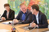 Josée Lorsché (Déi Gréng), Alex Bodry (LSAP) et Eugène Berger (DP) espèrent que le CSV abandonnera sa position de blocage sur la réforme constitutionnelle.