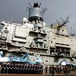 """Der russische Flugzeugträger """"Admiral Kusnezov"""" ist an den Kampfhandlungen beteiligt."""