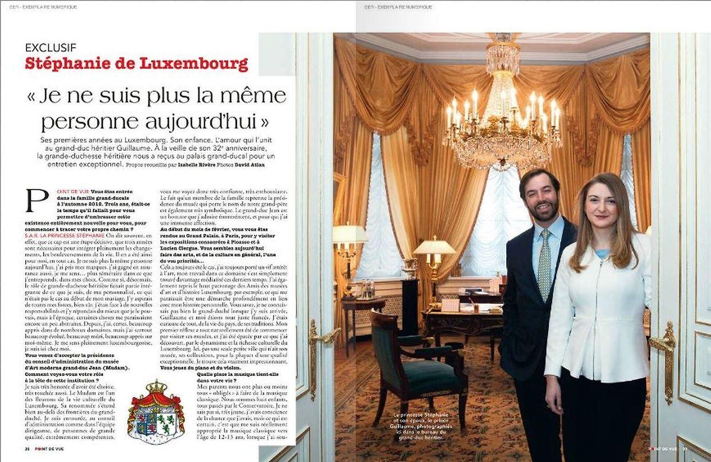 Le couple a reçu les journalistes pour un entretien exclusif au palais publié sur trois double-pages du magazine
