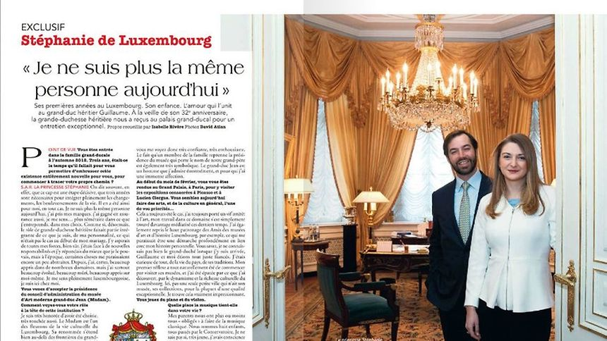 Point de Vue has included a three double-page interview with Luxembourg's Princess Stéphanie