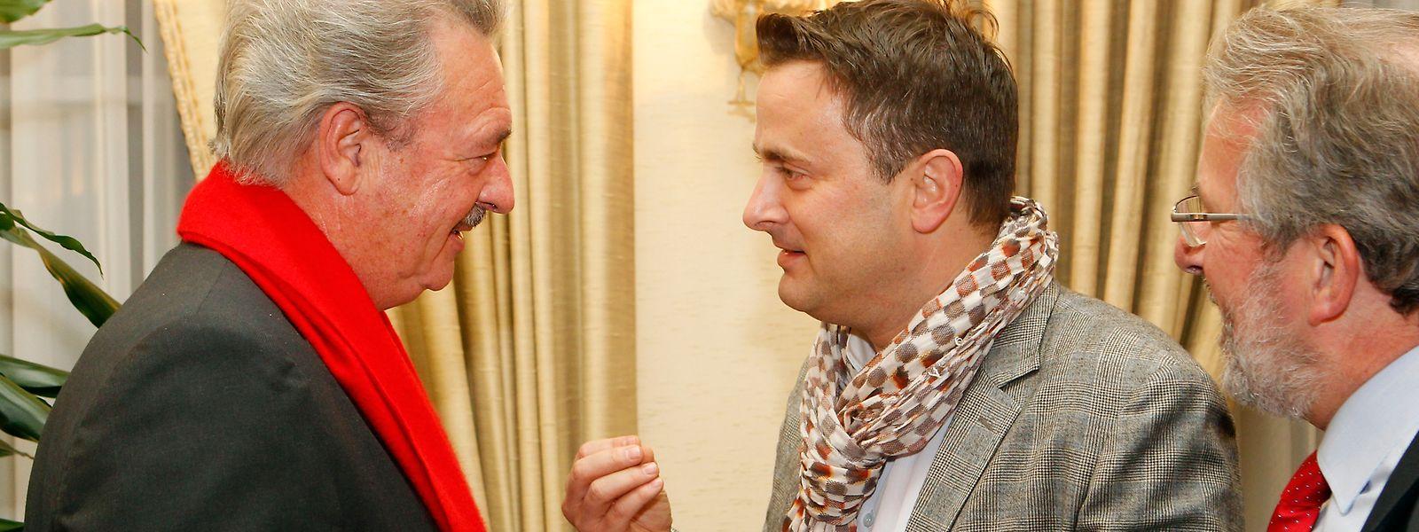 Jean Asselborn (l.), Mars Di Bartolomeo (r.) und Xavier Bettel sind Luxemburgs populärste Politiker.