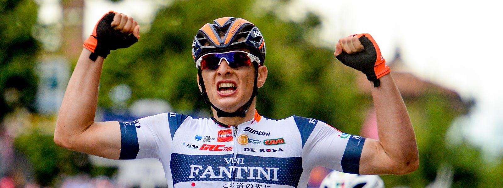 Damiano Cima gewinnt seine erste Giro-Etappe.