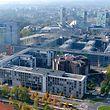 Vista aérea do Tribunal de Contas Europeu.