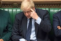 "A handout photograph released by the UK Parliament shows Britain's Prime Minister Boris Johnson gesturing in the House of Commons in London on September 3, 2019. (Photo by JESSICA TAYLOR / UK PARLIAMENT / AFP) / RESTRICTED TO EDITORIAL USE - NO USE FOR ENTERTAINMENT, SATIRICAL, ADVERTISING PURPOSES - MANDATORY CREDIT "" AFP PHOTO /JESSICA TAYLOR / UK Parliament"""