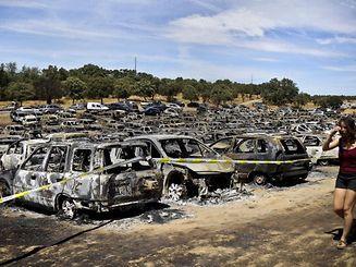 Foram 422 os carros que arderam em apenas hora e meia no festival Andanças, no verão de 2016.