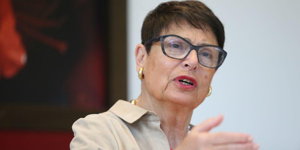 Anne Prieur lors d'un entretien dans les locaux de la Banque de Luxembourg mardi matin.