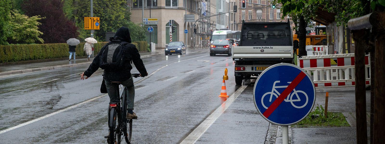 Die Avenue Marie-Thérèse ist für Radfahrer ein gefährliches Pflaster.