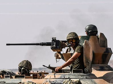 Turkey shelled Kurdish militia fighters in Syria on August 26 on the second day of a major military operation inside the country
