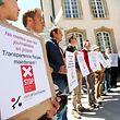 Manifestation GlobalTaxJustice Luxleaks devant la chambre des députées - Photo : Pierre Matgé