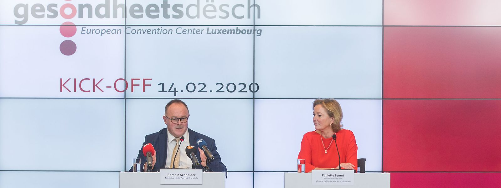 Fünf Zukunftsthemen, sechs Arbeitsgruppen und Zwischenbilanz in sechs Monaten - so die Planung von Romain Schneider und Paulette Lenert.