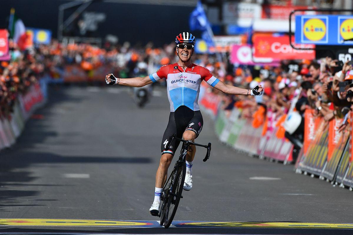 Bob Jungels (Quick-Step) genießt seinen Triumph.
