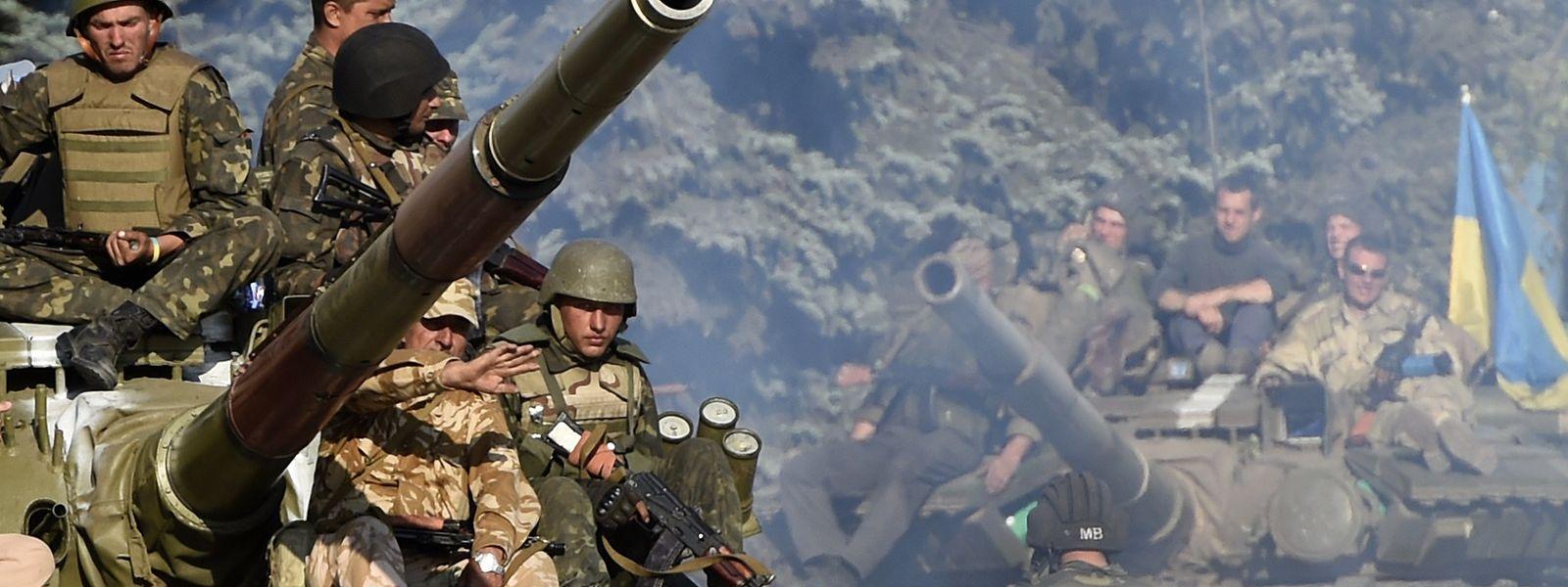 Wegen der Unterstützung von Separatisten im Ukrainekonflikt (Foto) sind russische Rüstungshersteller mit Sanktionen belegt.