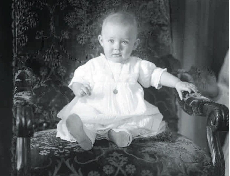Le grand-duc Jean, bébé.