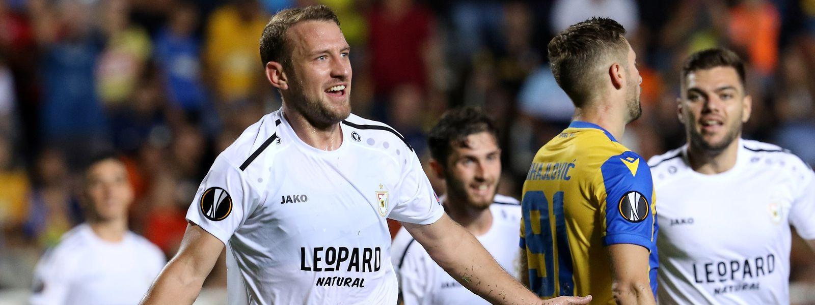 Buteur à l'aller contre l'APOEL, Dominik Stolz connaîtra-t-il la même joie ce jeudi sur le billard du stade Josy-Barthel?
