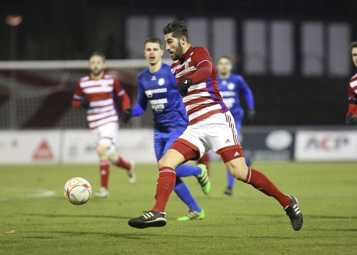 Deux buts de Samir Hadji lors de la démonstration du Fola contre Rumelange.