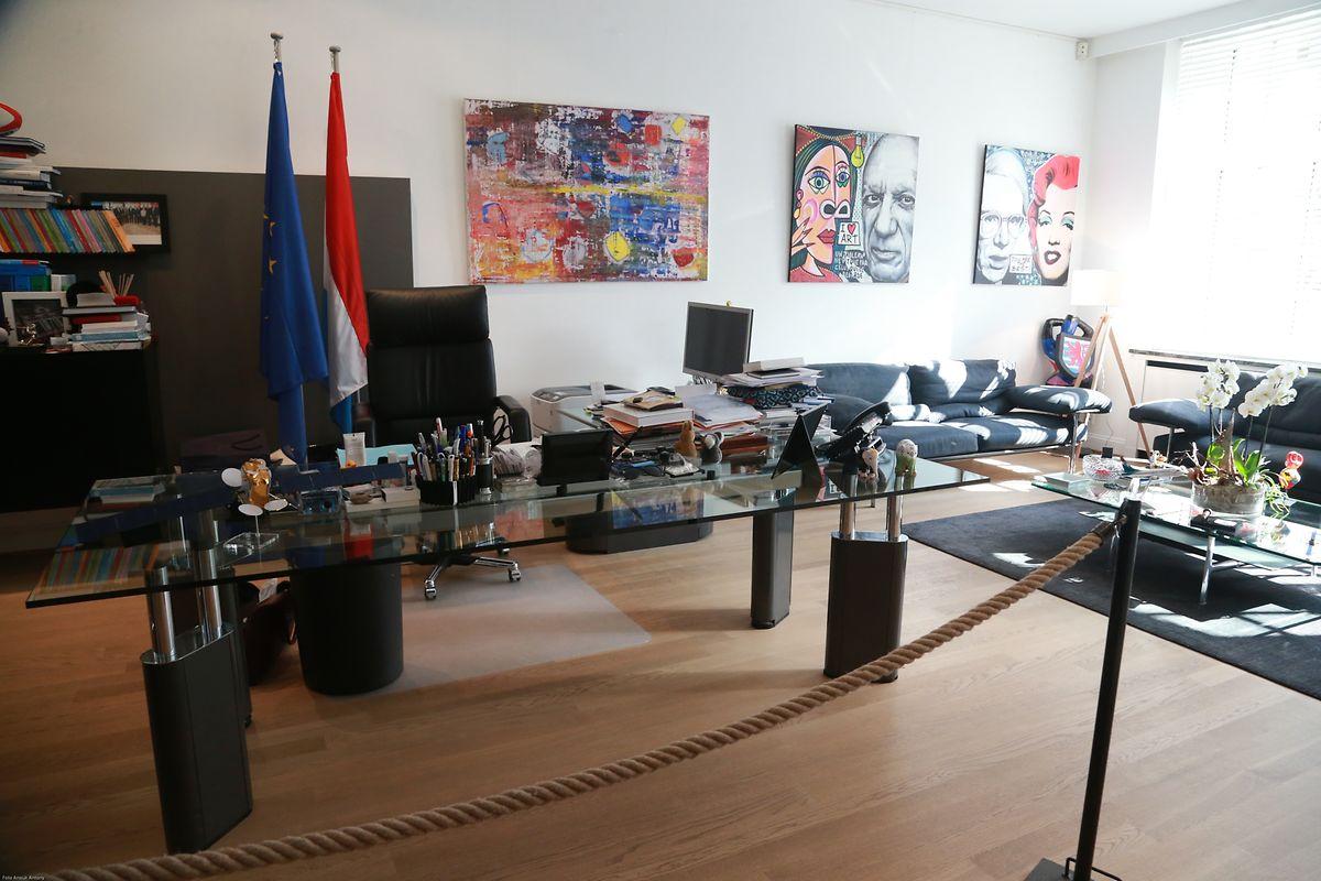 Ordnung muss sein: das Büro von Xavier Bettel