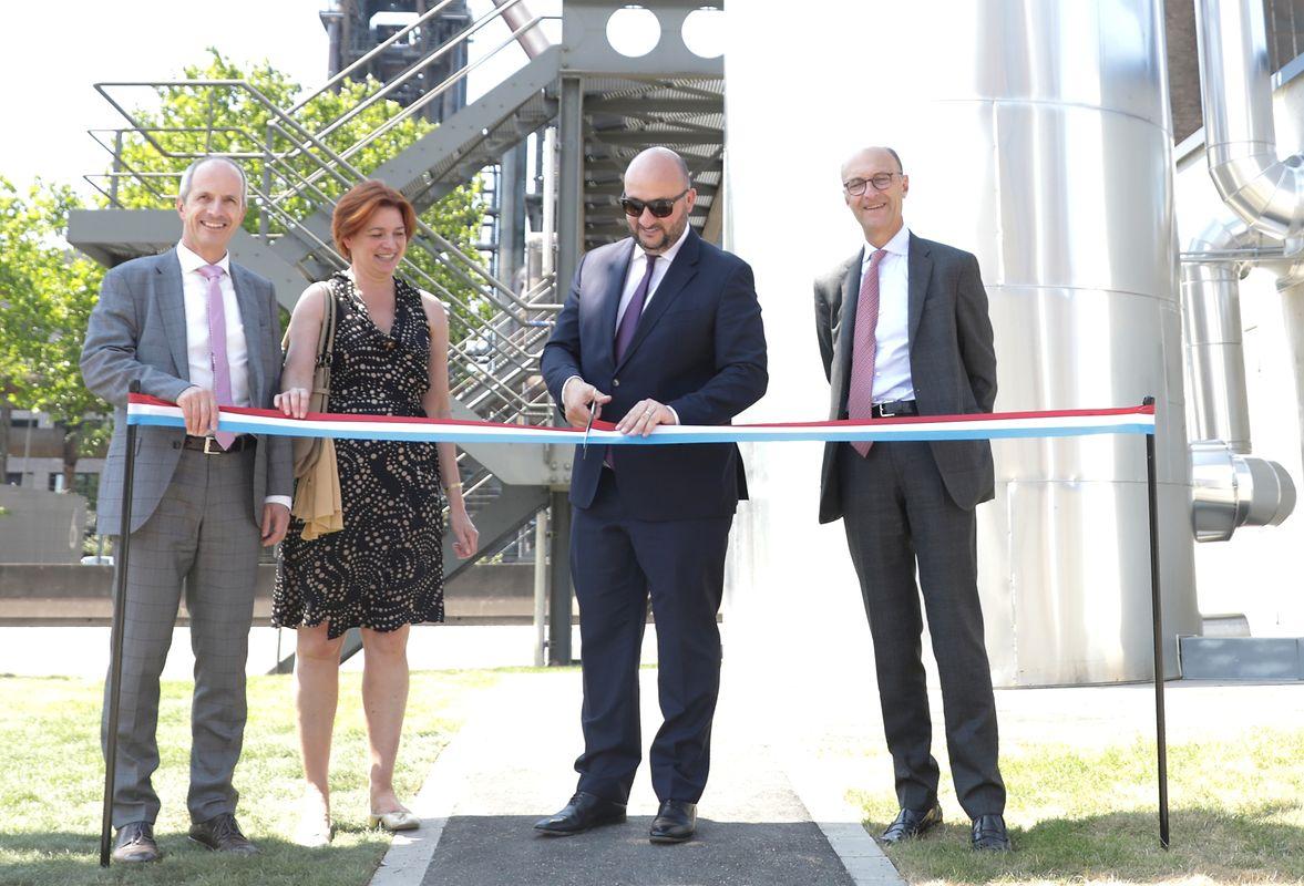 Etienne Schneider et Michel Wurt ont inauguré la station de récupération de chaleur pour le chauffage urbain de Belval, ce vendredi 29 Juin.