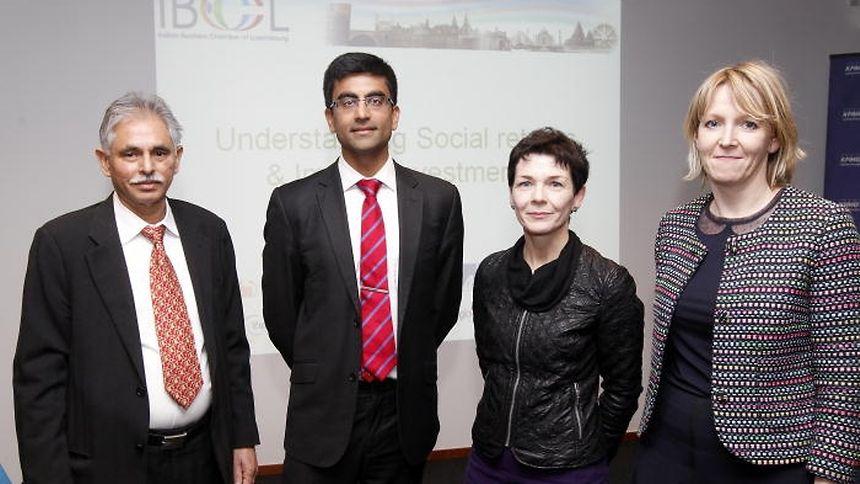 From left: IBCL president Sudhir Kohli with speakers Pratik Dattani, Patrizia Luchetta and Jane Wilkinson