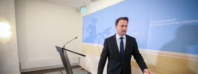 Premier Xavier Bettel stellte die Grundzüge der Scheidungsreform vor.