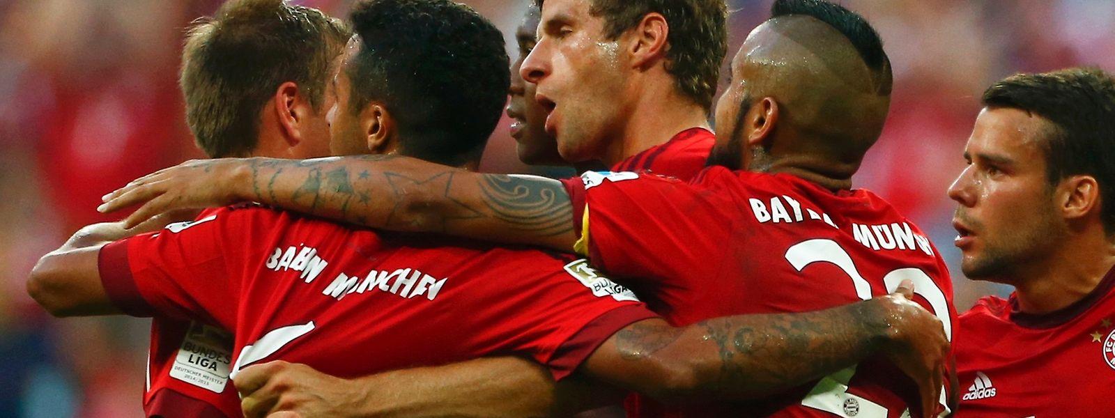 Die Bayern überzeugten erneut mit einer starken Leistung.