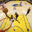 Jun 1, 2017; Oakland, CA, USA; Golden State Warriors forward Kevin Durant (35) dunks against the Cleveland Cavaliers during game one of the 2017 NBA Finals at Oracle Arena. Mandatory Credit: Marcio Ezra Shaw/Pool Photo via USA TODAY Sports