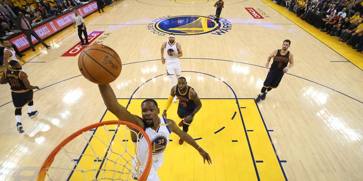 Kevin Durant n'a pas manqué son rendez-vous et a inscrit 38 points lors de cette première manche de la finale.