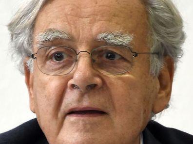 Bernard Pivot en 2015, lors d'une conférence à Tunis.