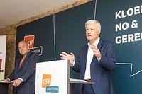 Claude Wiseler, chef de fraction du CSV et tête de liste aux élections législatives d'octobre 2018 (à droite) et Marc Spautz, président du parti chrétien-social, ont un plan pour le Luxembourg.