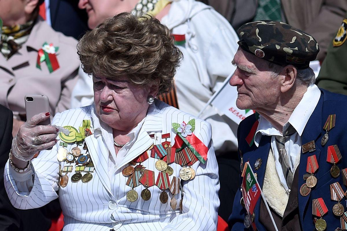In Minsk waren einige Veteranen zugegen.