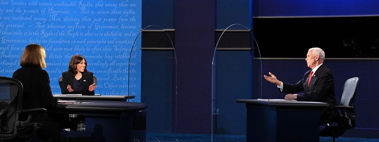 In Salt Lake City fand die einzige TV-Debatte der Vizepräsidentschaftskandidaten Kamala Harris und Mike Pence statt.
