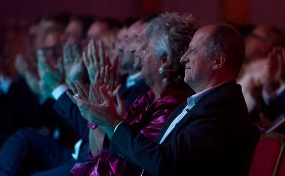 Maggy Nagel, Minister of Culture enjoying Eurovision Gala Night