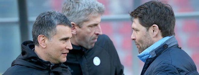 Luc Holtz (r.) und sein Trainerstab haben die Partie gegen Österreich bestmöglich vorbereitet.