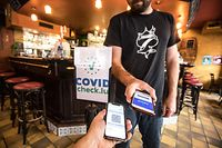 online.fr.Covid Check in Restaurants,Bars,Cafes. Foto: Gerry Huberty/Luxemburger Wort
