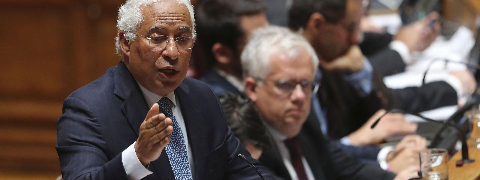 O primeiro-ministro, António Costa, durante o debate quinzenal na Assembleia da República.