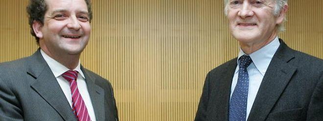 Paul Lenert (links) bedankte sich bei Léon Zeches für dessen unermüdliches Engagement.