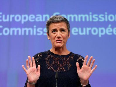 La commissaire à la Concurrence Margrethe Vestager a tenu une conférence de presse ce jeudi 14 juillet à Bruxelles.